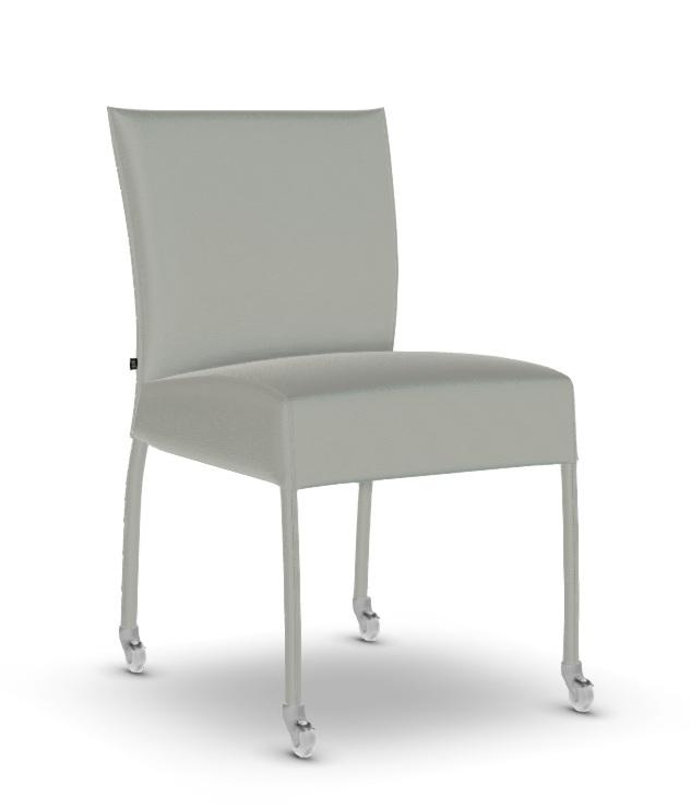 Chaise design GAUGUIN en simili cuir avec roulettes de JOLI