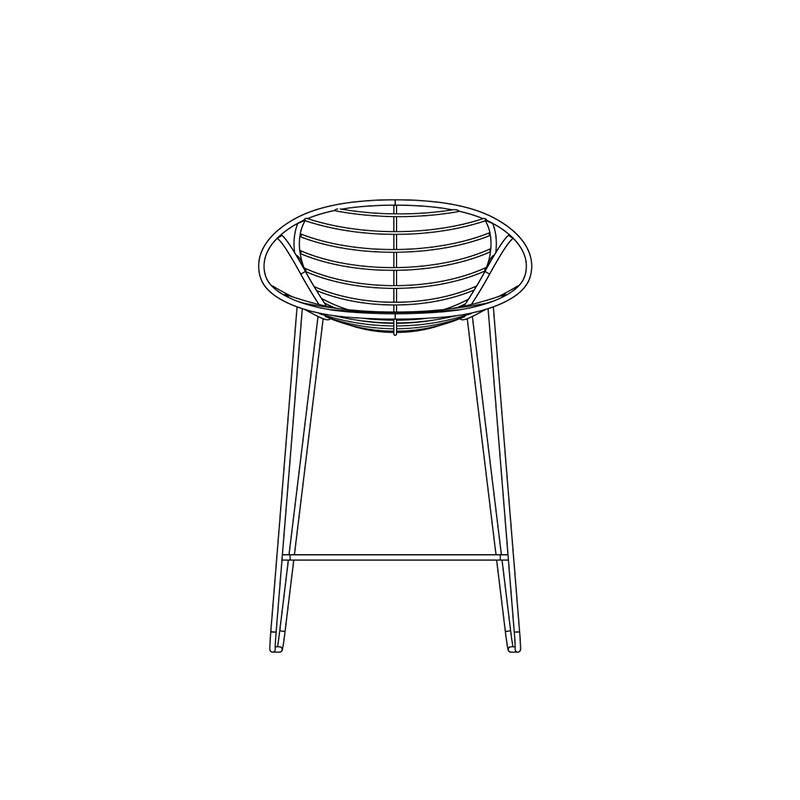 chaise haute design WIRE de JOLI est remarquable quant à son ergonomie.