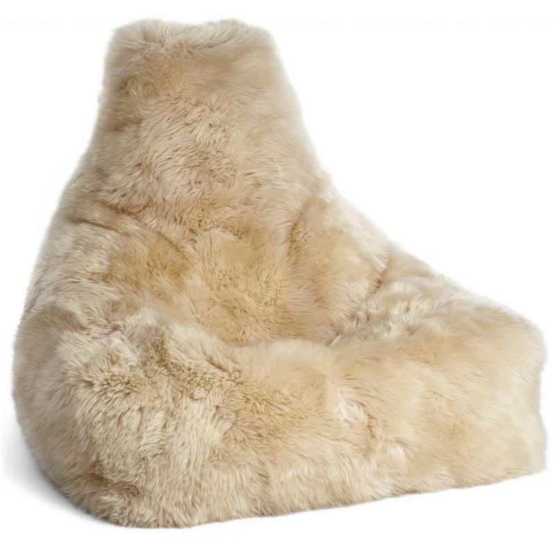 Pouf en laine de mouton Bean Bag de la marque Natures Collection permettant des moments de détente et de repos.
