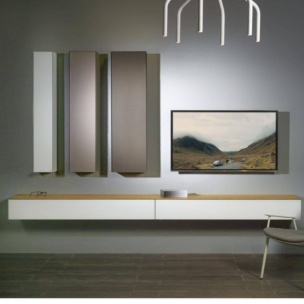 Ce meuble TV modulaire de la marque Joli a été réalisé par le designer Chris Vankeirsblick.