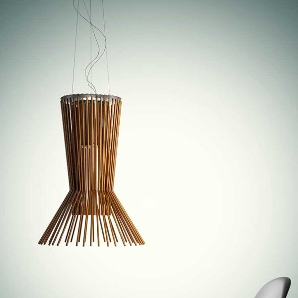 Lampe suspension Allegrotto artisanale est fabriquée en Italie.