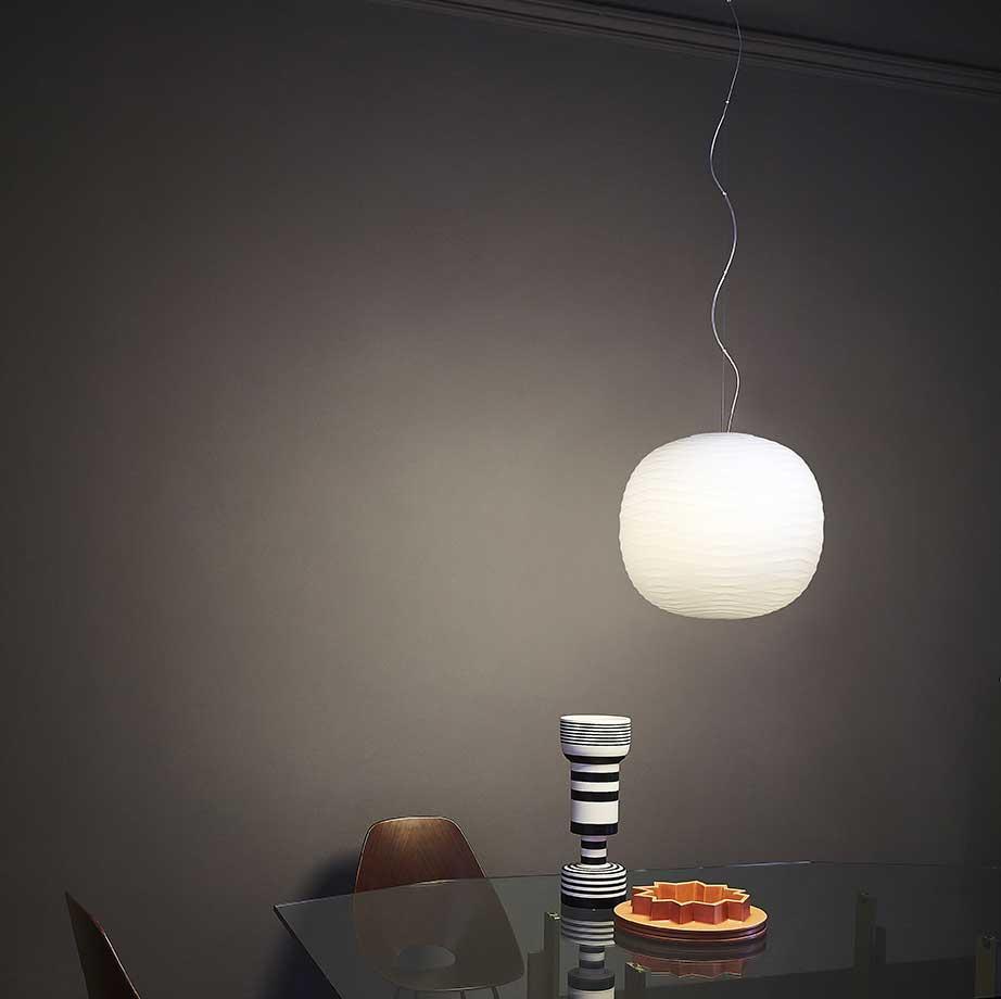 lampe suspension artisanale foscarini design italien. Black Bedroom Furniture Sets. Home Design Ideas