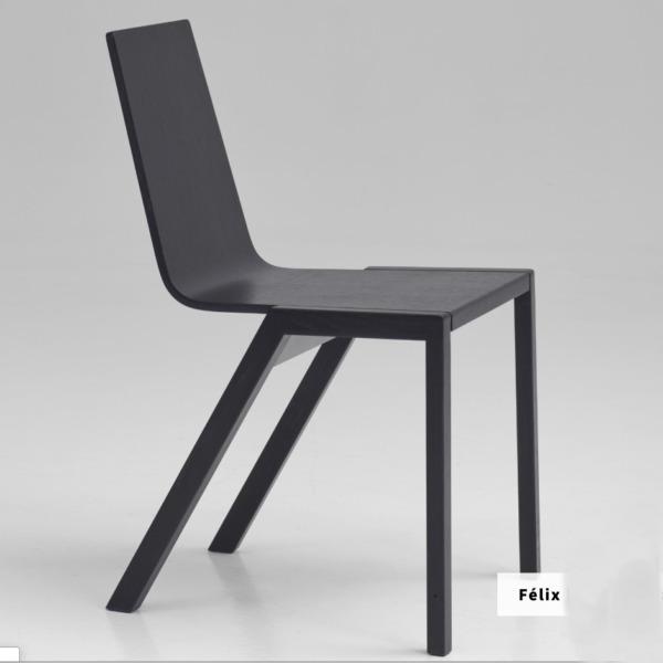 Chaise FELIX design en bois et aux lignes minimalistes de la marque Per/use.