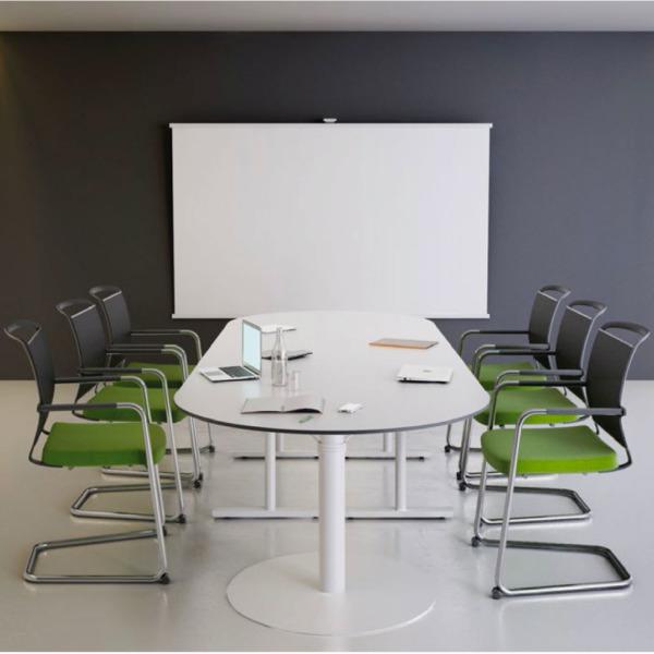Table de conférence ergonomique et design belge Hybrid qui permet de s'adapter.